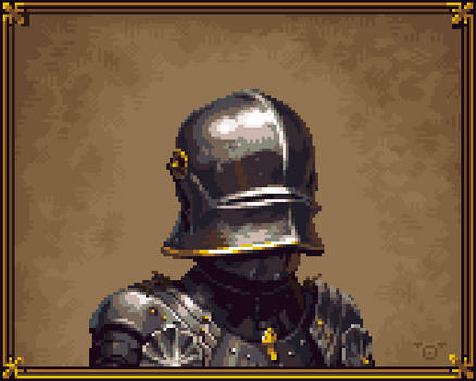 Pixelart knight portrait
