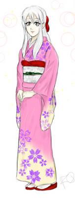 Neri in a Kimono