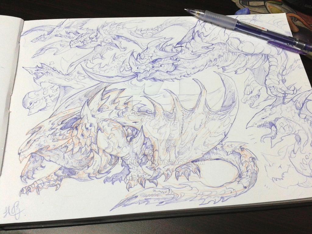 Dragons sketchs by CPoring