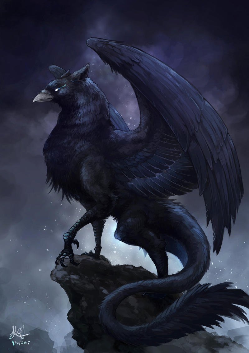 dark griffin by cporing on deviantart