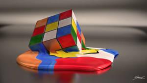 Melting Rubiks Cube