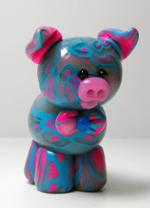 Strawberry Blue Jelly Belly Piglet by rainieone