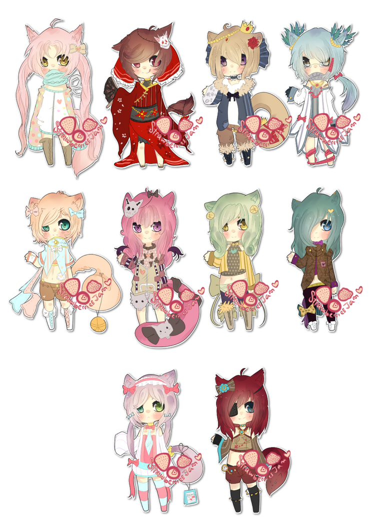 Random Adopt Batch 04 - [CLOSED] Set Points+Cash by StrawberriesJam