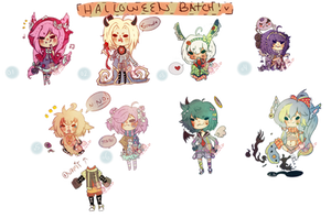 Halloween Doodle Adoptables [closed] by StrawberriesJam