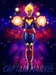Captain Marvel by valhallagfx