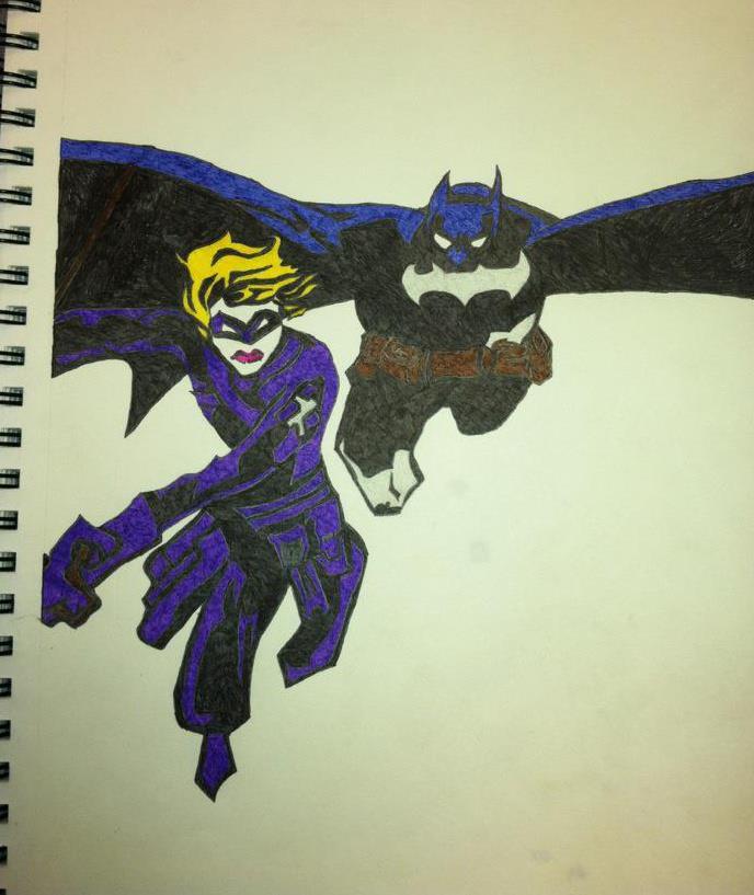 Batman and Sasha Bordeaux by Rapter57