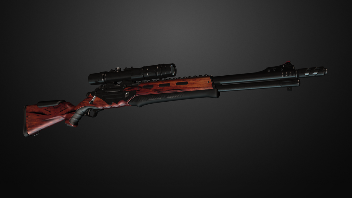Futuristic heavy rifle - with optics. by Cleitus2012 on ...