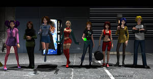 The girls of El Goonish Shive