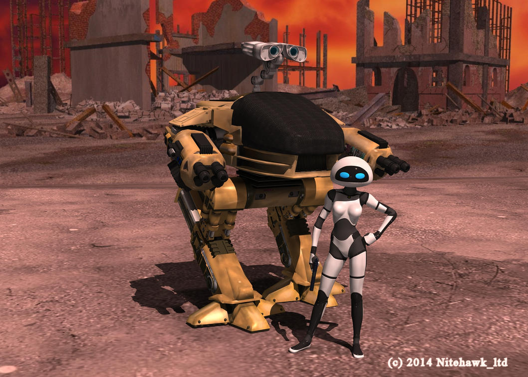Wall-E-BadAss by nitehawk-ltd