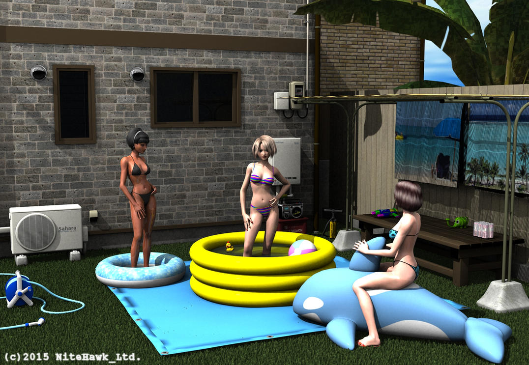 Pool party by nitehawk-ltd