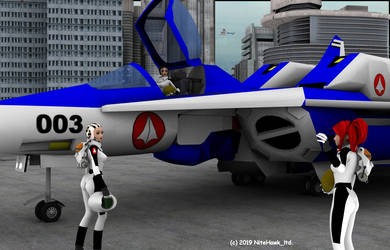 RDF Girls Flight line by nitehawk-ltd