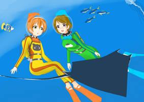 RinPana diving by MagatsuReinami