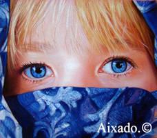ojos azules by aixado
