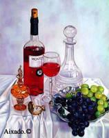 vino y uvas by aixado