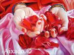 manos y rosas II by aixado