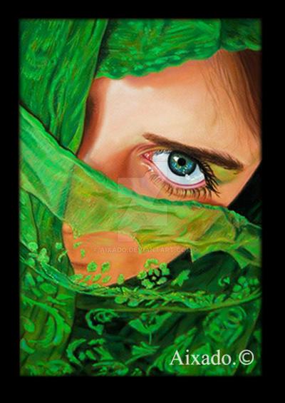 mirada en verde by aixado