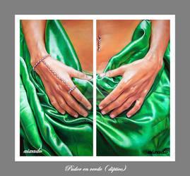 Pudor en verde diptico