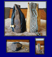 Leather pouch 1. by 1980Stitch