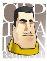 Captain Barbell Headshot by gabmadrid