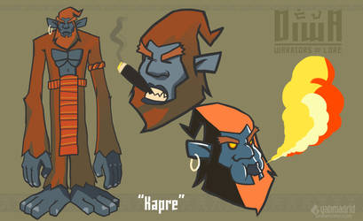 Diwa: Kapre Character Design by gabmadrid
