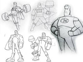 Captain Barbell Sketchdump by gabmadrid