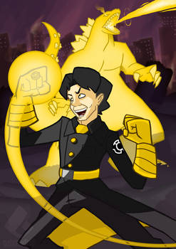 Commission: Sinestro Corps Allen by gabmadrid