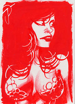 Red Sonja Artist Proof 2 by sobad-jee