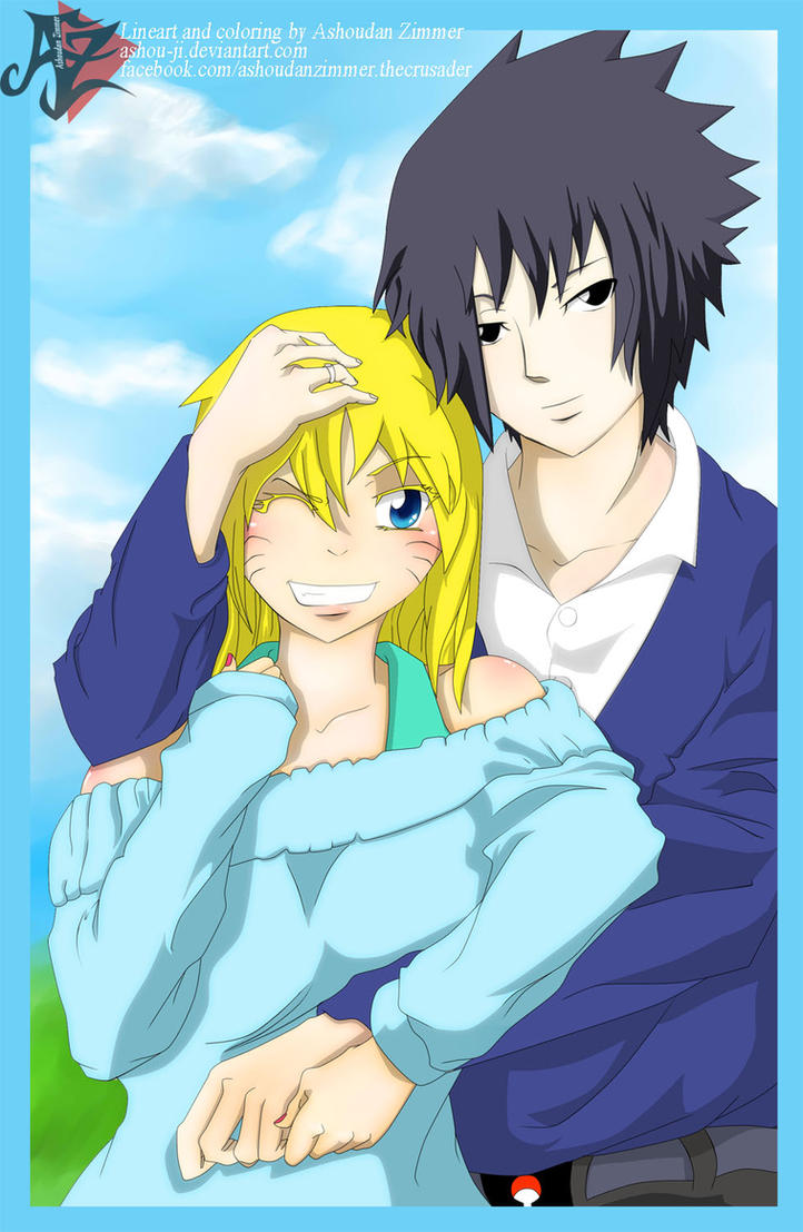 Sasuke and FemNaruto, Live to the Fullest Happy by ashou-ji