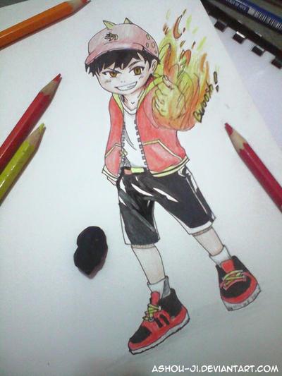 BoboiBoy Fire! by ashou-ji