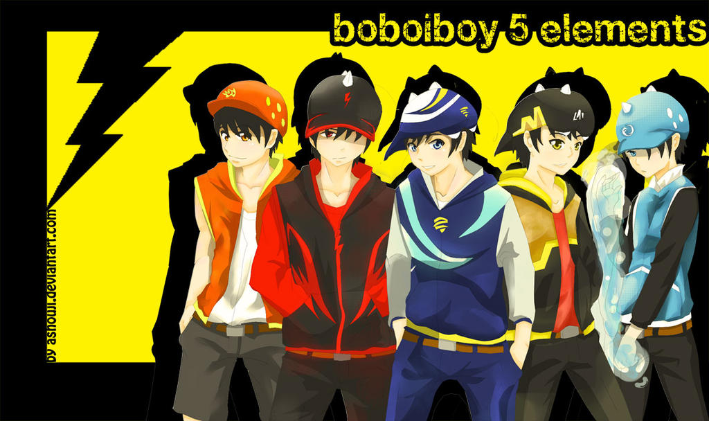 BoboiBoy 5 Elements Wallpapers by ashou-ji