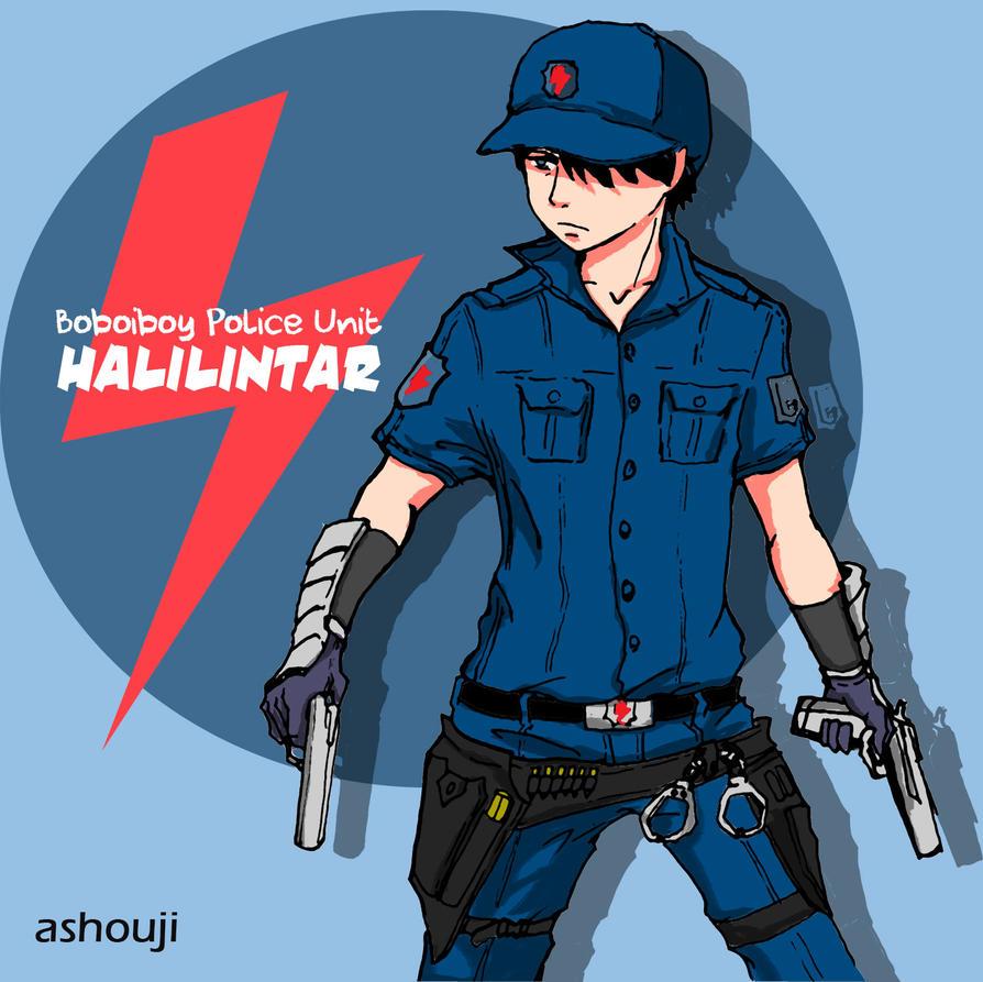 Halilintar Boboiboy Police Unit by ashou-ji
