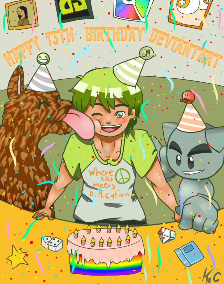 DeviantART's 13th Birthday by kochiyourin