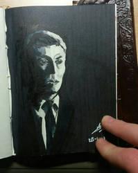 H. P. Lovecraft portrait sketch by Cheapknight