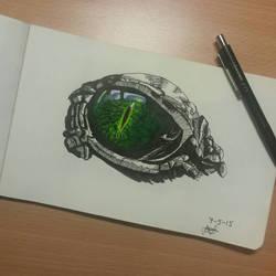 Reptile eye sketch by Cheapknight