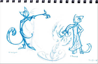 Vanripper and Kazerad fanart: Character Design I by ElisAnimation