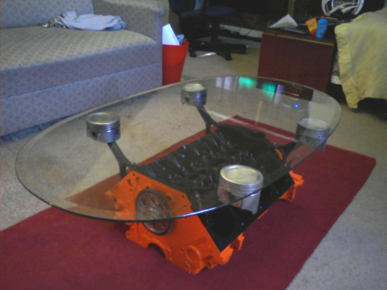 Car part furniture for Car part coffee table
