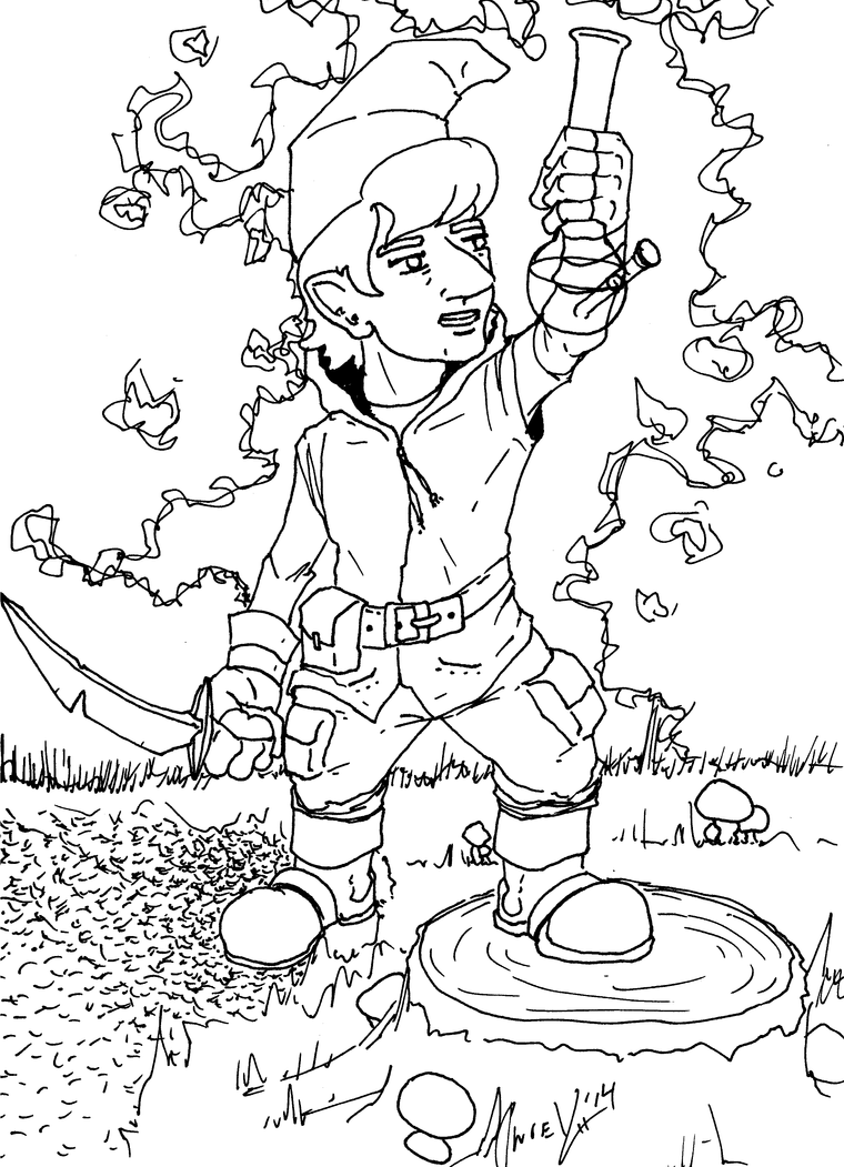 Coloring Pages For Bad Kids: An epic journey by KrisOwrey