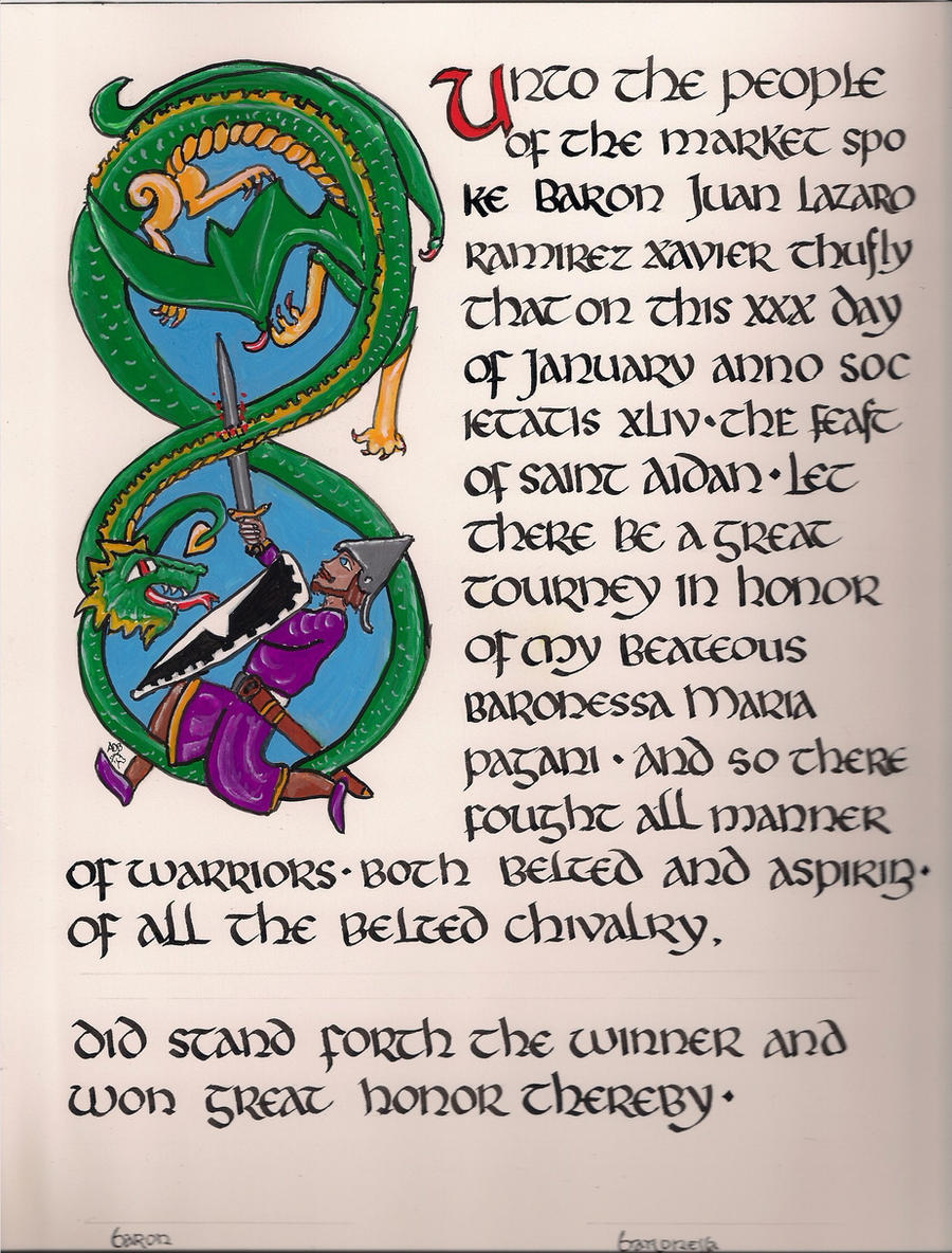 Medieval Calligraphy by annawriterchick on DeviantArt