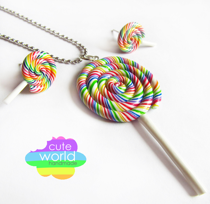 Rainbow Lollipops by CuteWorldCharms