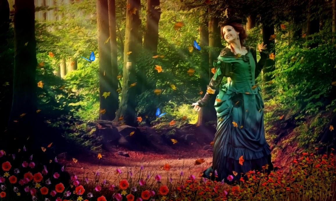 Lady In Jungle by mrugeshmaheshwari