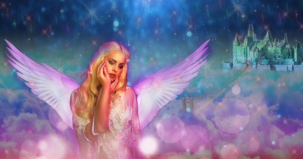 the Angel on clouds by mrugeshmaheshwari