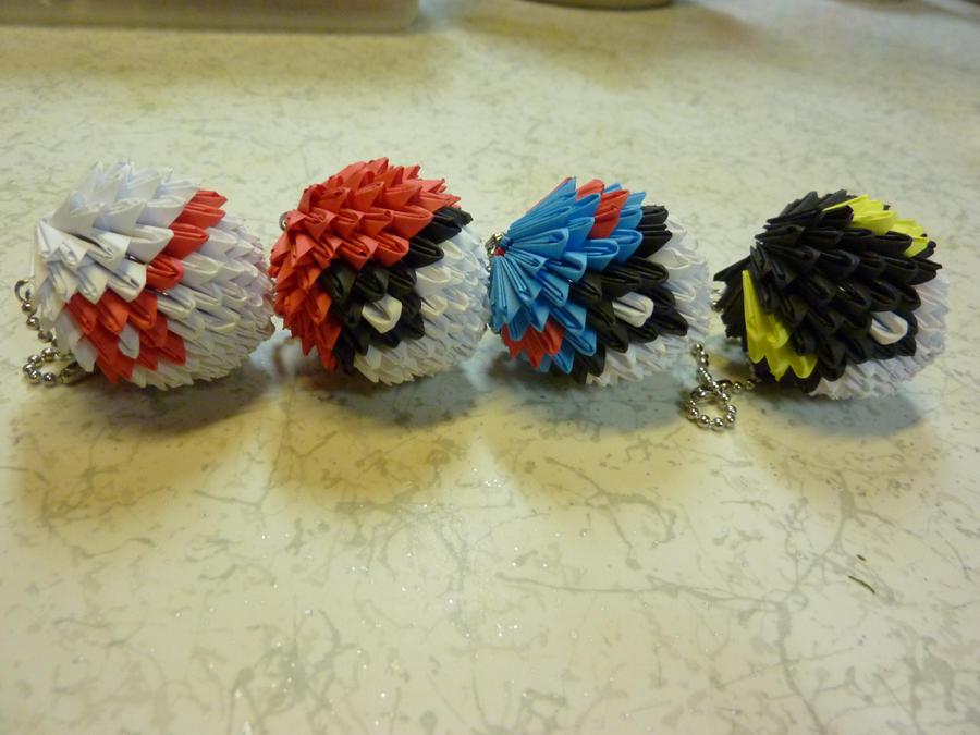 3d Origami Pokeballs By Houkiboshi3133 On Deviantart