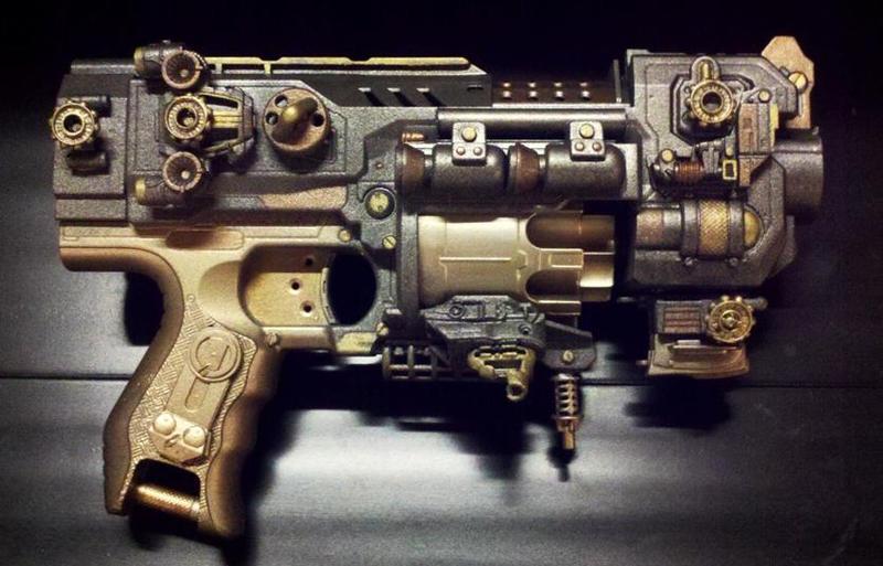 The Gatekeeper- Retrofuturistic Gun by KingMakerCustoms