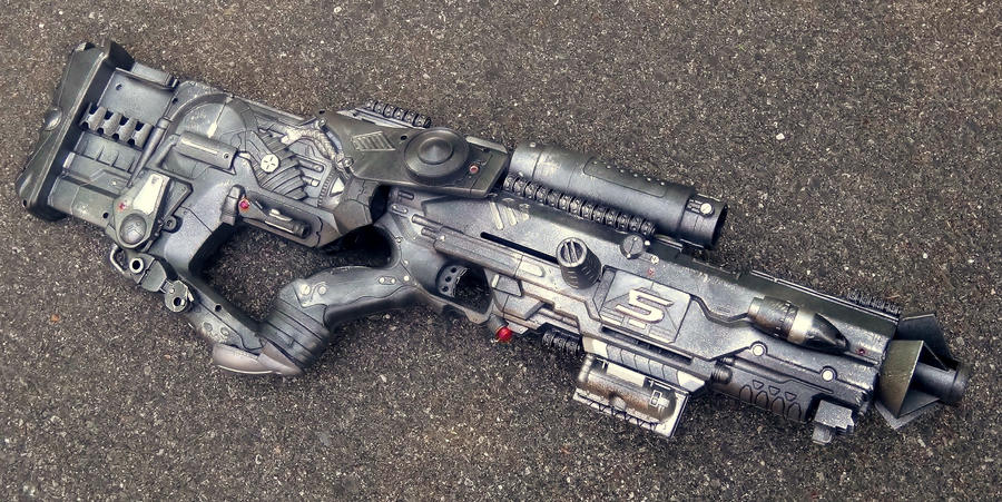 Wyvern-05 Electric Compression Pulse Rifle (Final) by LandgraveCustoms