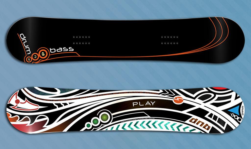 Play DnB Snowboard design by riabukha