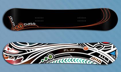 Play DnB Snowboard design