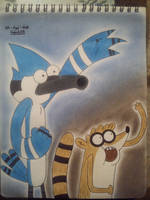 (RS/Regular Show) Mordecai and Rigby by GABOaNiMaTeD1998