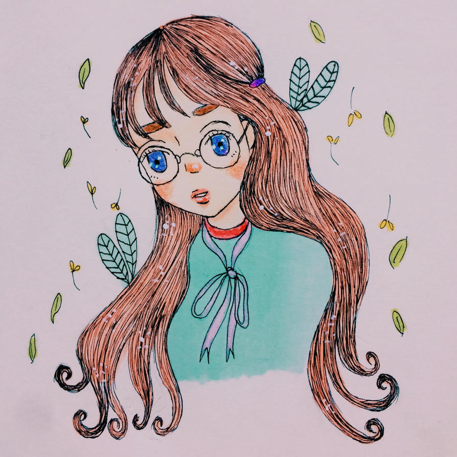 Nerdy Flower by kikidessu