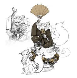 Kitsune trickster by Max-Kneht