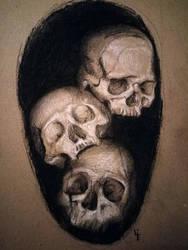 three of skulls by Max-Kneht